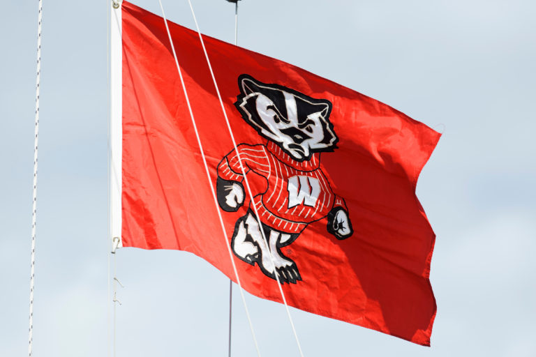 Bucky Badger flag