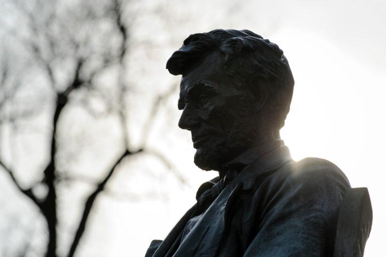 Abraham Lincoln statue on Bascom Hill